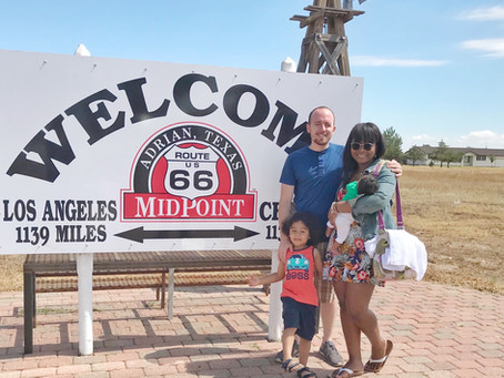 Route 66: Cross-country Travel with a Newborn and Toddler
