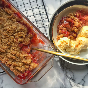 Strawberry Cereal Crumble