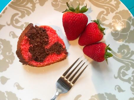 Strawberry and Chocolate Swirl Bundt Cake