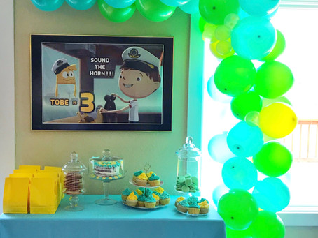 Tobe Celebrates his 3rd Birthday Party Together with Justin Time.