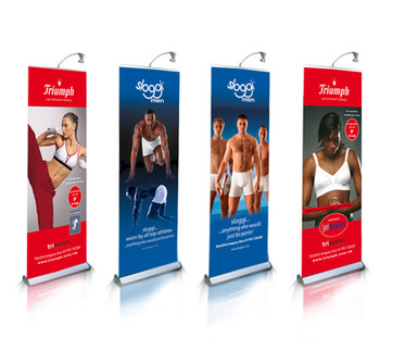 Pull up promotions banners