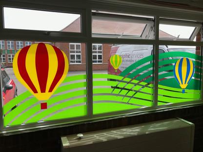 Designing fun window graphics