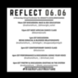 RISE. REFLECT. RESTORE. A Three Day Virtual Fundraiser for the NAACP and Color of Change curated by Nathaniel Hunt: DAY 2 REFLECT