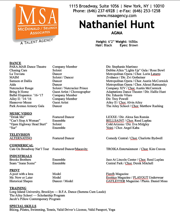 HUNT Resume