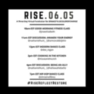 RISE. REFLECT. RESTORE. A Three Day Virtual Fundraiser for the NAACP and Color of Change curated by Nathaniel Hunt: DAY 1 RISE