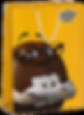 Бумажный пакет с логотипом m&m's