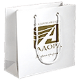 Бумажный пакет с логотипом Адора