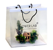 прозрачный подарочный пакет