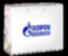 Бумажный пакет с логотипом Газпром