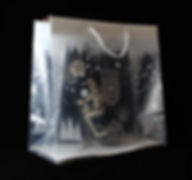 прозрачный подарочный пакет с ручками