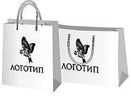 Пакеты с логотипом среднего размера