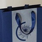 Репсовые ленты с люверсами для бумажного пакета с логотипом