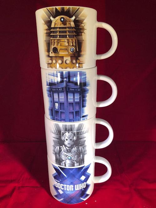 (4) 10oz Stacking Mug Set