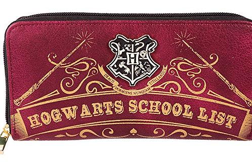 Hogwarts School List Wallet