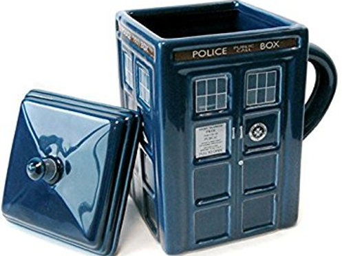 Tardis Sculpted Mug with Lid