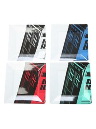 Tardis Plate Set With Four Colors