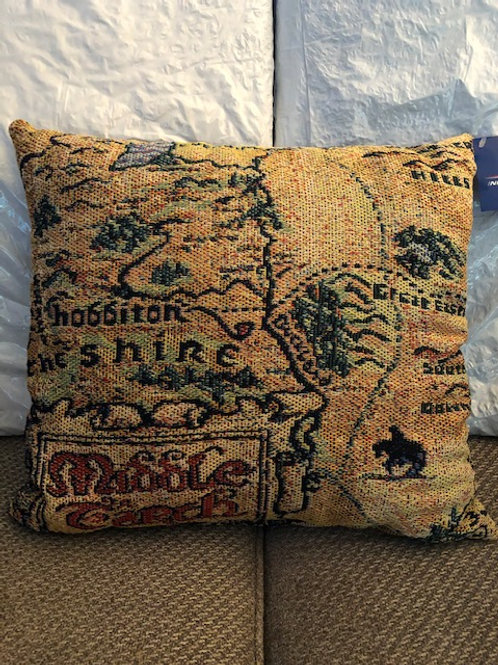 Hobbiton Map Pillow