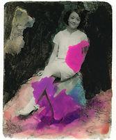 一个女子(九)-12.5X15.8cm-照片打印,水彩,丙烯-2017.jpg