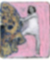 一个女子(十)-12X13.5cm-照片打印,水彩,丙烯-2017.jpg