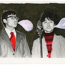 Speech-Bubbles-口气,14.3X10.1cm,银盐照片,水彩,丙烯