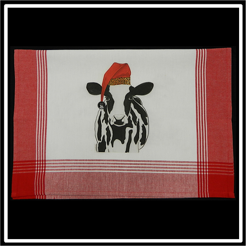 Red Plaid White Background Kitchen Towel