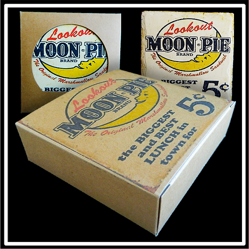 Four Coaster Kraft Box with Custom Back Print