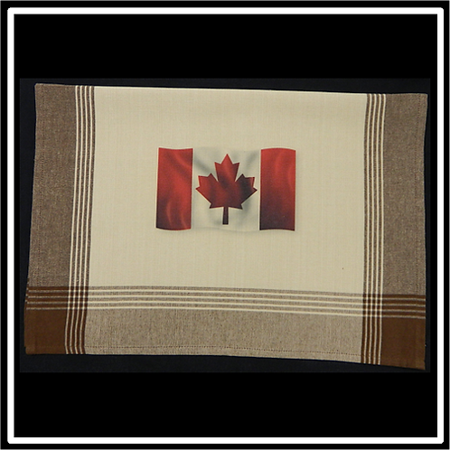 Brown Plaid Tea-Dyed Background Kitchen Towel