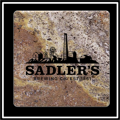SM-21 - Faux Marble Printed Square Absorbent Coaster