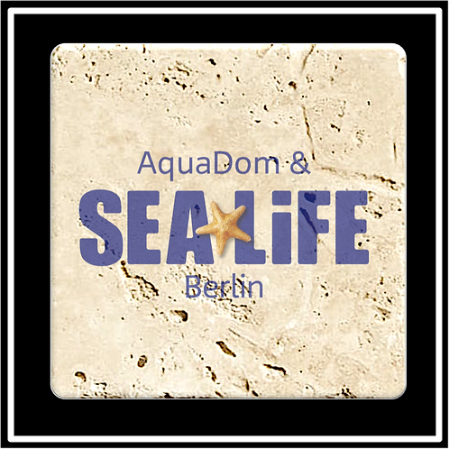 ST-21 - Faux Travertine Printed Square Absorbent Coaster