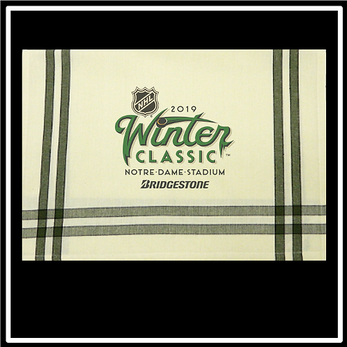 "Sage/Black Double Stripe Kitchen Towel - 20""x28"""