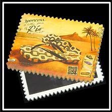 Postage Stamp Edge Stone Magnet CM-09