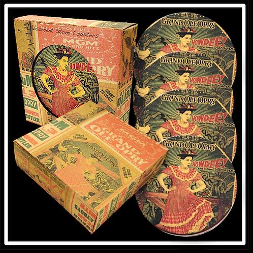 Four Coaster Kraft Box - Full Coverage Printed Box