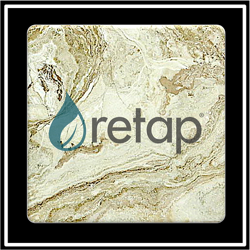 SM-15 - Faux Marble Printed Square Absorbent Coaster
