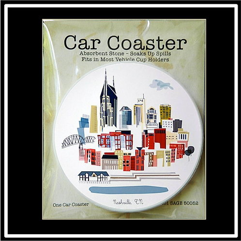 Car Coaster in Individual Retail Packaging.