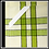 "Thumbnail: Lime/Black Double Stripe Kitchen Towel - 20""x28"""