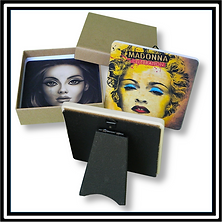 Two Coaster/Easel Sets in Plain Kraft Gift Box CEB-200
