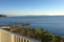 Vue mer de la terrasse de la location Fettolina au Palm Beach