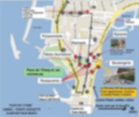 plan de la Pointe Croisette et quartier