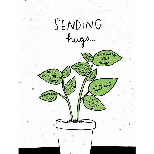 Sending Hugs - Plantable Card