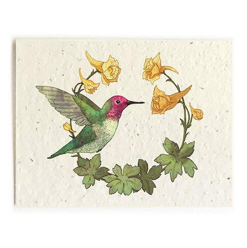 Hummingbird - Plantable Card