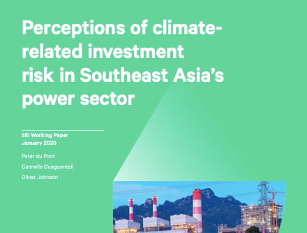 Stockholm Environment Institute's releases paper on climate risks and investment behavior