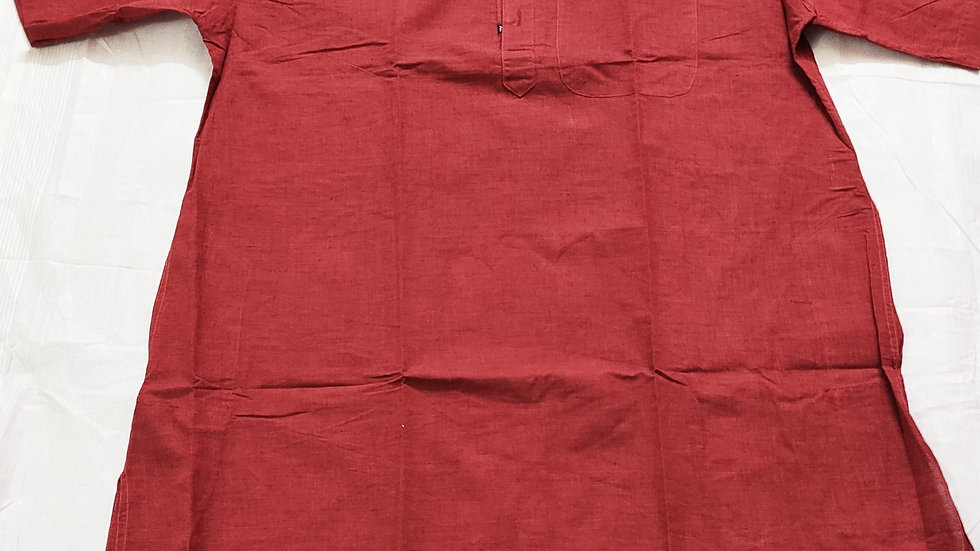 MAROON COLOR HALF SLEEVE KURTA