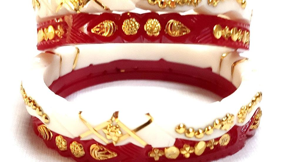 GOLD PLATED ARTIFICIAL SANKHA POLA