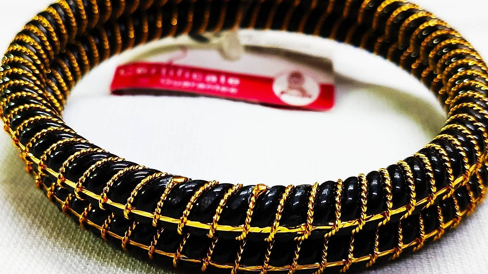 City Gold -Gold Plated Bangles Black
