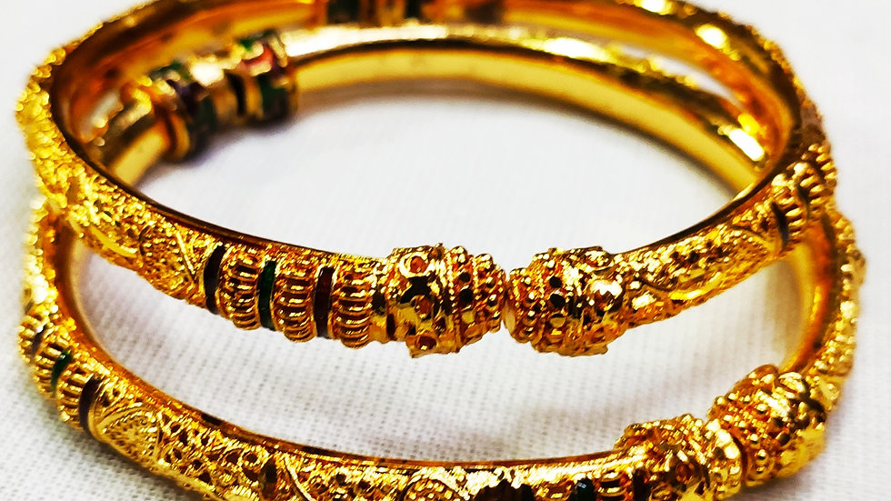 City Gold Gold Plated Bangles