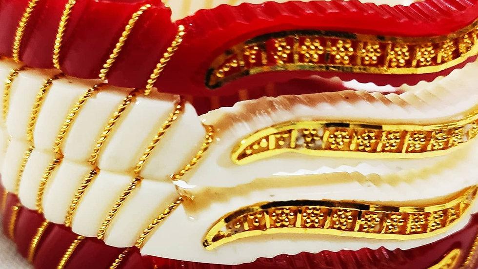 City Gold Artificial Gold Plated Sankha Pola