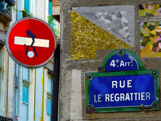 Rue le Regrattier. Paris