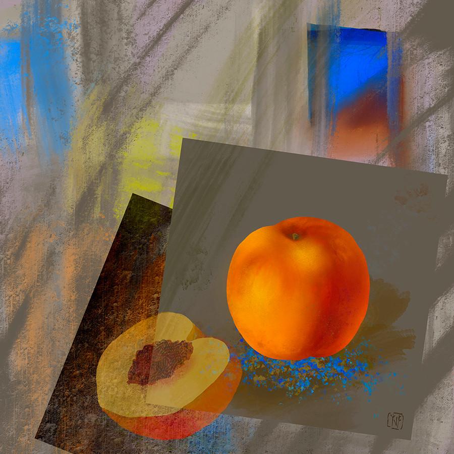 4_25_2020 Peach Drawing Lesson #5