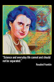 Rosalind Franklin Postcard Front