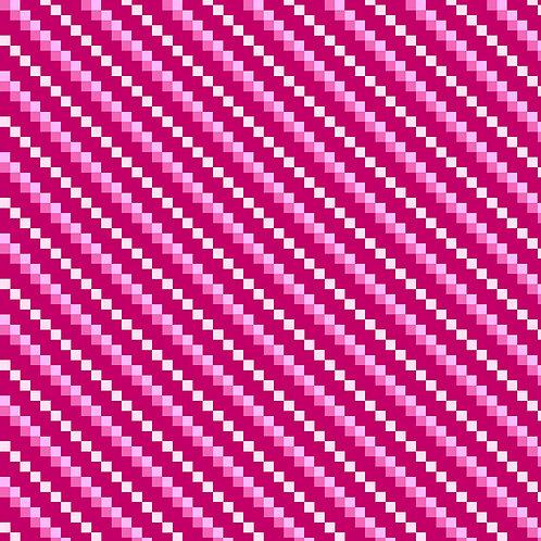 Diagonal Stripe 6722-23  Pink